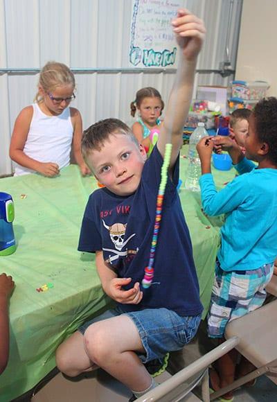 Young boy enjoying a kids camp