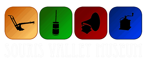 Souris Valley Museum Logo - white letter